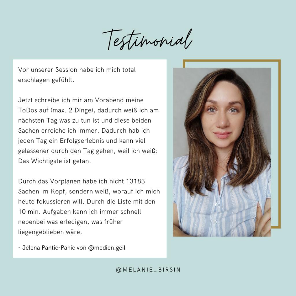 Testimonial Jelena